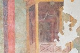 On display the restored fresco of the Roman villa of Settefinestre
