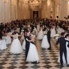 At the Grand Ball of the Venaria Reale with red shoes