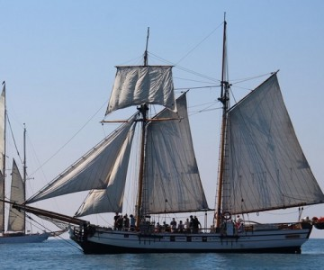 Great celebration of the Historical Sails. In Versilia is celebrated the 15th gathering of vintage boats