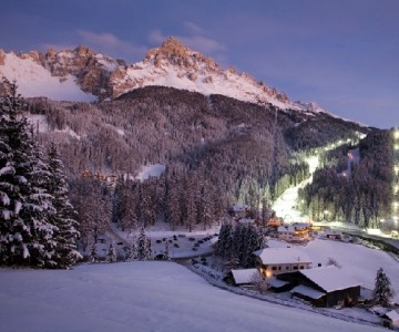 The white night in the Dolomites