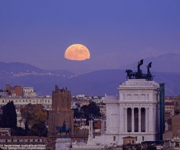 The wonder of the sky over the beauty of Rome